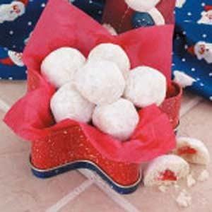 Cherry Snowball Cookies