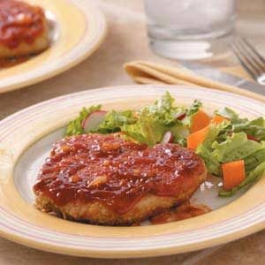 Saucy Breaded Pork Chops