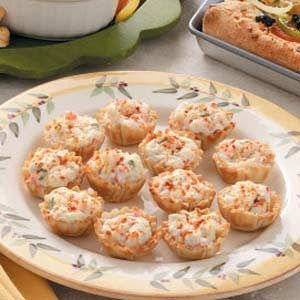 Phyllo Crab Cups