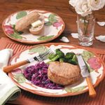 Pork Chops with Cranberry Red Cabbage