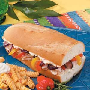 Vegetable Turkey Hoagies