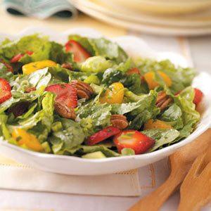 Strawberry Orange Pecan Tossed Salad