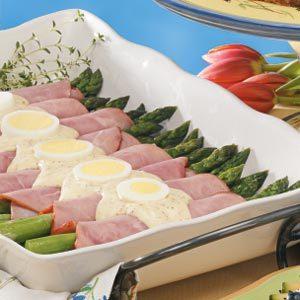Asparagus Dijon Ham Rolls