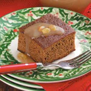 Gingerbread With Raisin Sauce