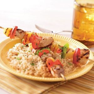 Sweet and Sour Pork Kabobs