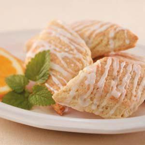 Coconut-Glazed Orange Scones