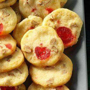Cherry-Pecan Icebox Cookies