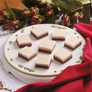Layered Peanut Butter Chocolate Fudge