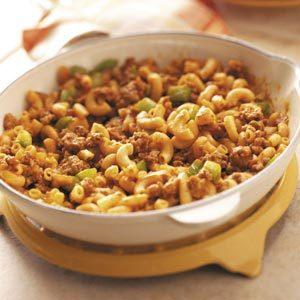 Beef Macaroni Skillet