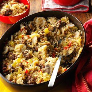 Sausage and Rice Casserole Side Dish