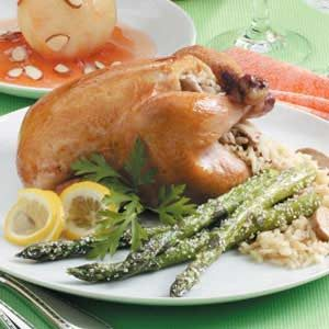 Rice-Stuffed Cornish Hens
