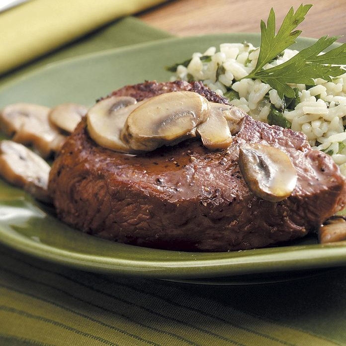 Steaks with Mushrooms