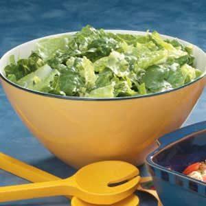 Lemon Vinaigrette on Greens