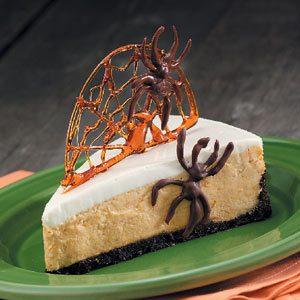Spiderweb Pumpkin Cheesecake