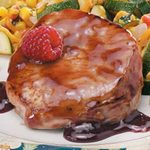 Fast Raspberry Pork Chops