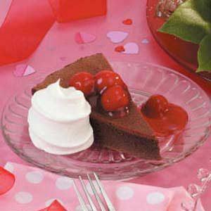 Cherry-Topped Chocolate Cake