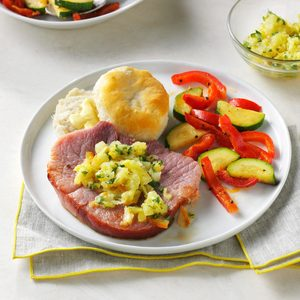 Ham with Pineapple Salsa