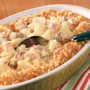Cauliflower Ham Casserole