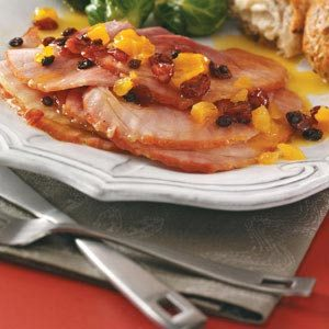 Ham with Orange-Apricot Sauce