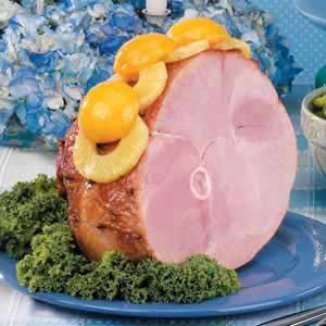 Peach-Glazed Ham