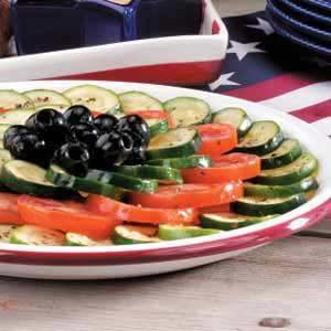 Tomato Zucchini Platter