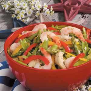 Vegetable Shrimp Salad