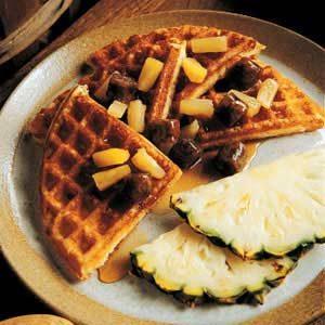 Porky-Pine Waffles