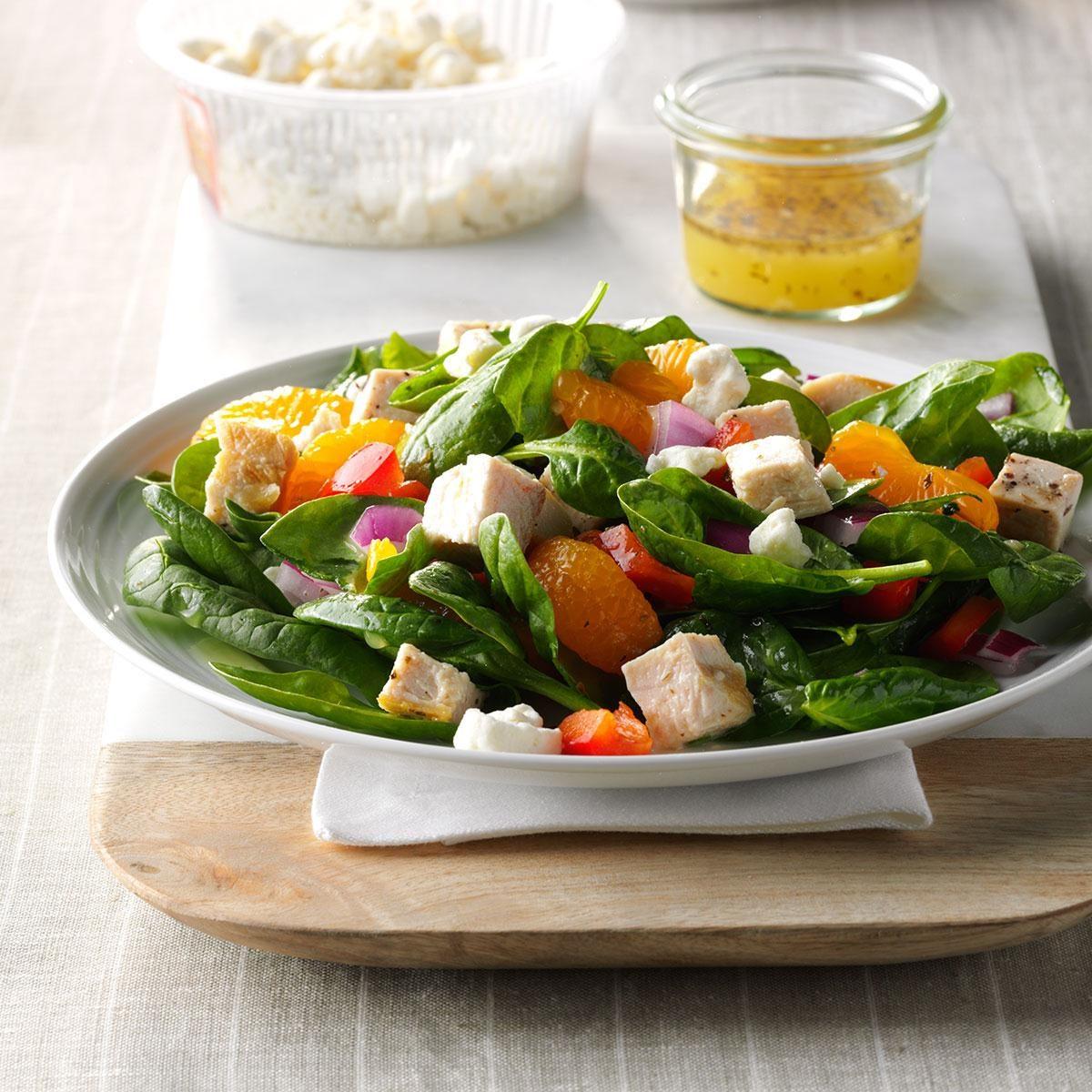 Orange Chicken Spinach Salad