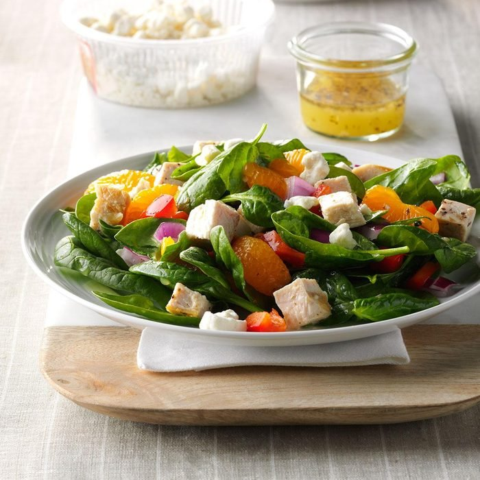 Orange Chicken Spinach Salad