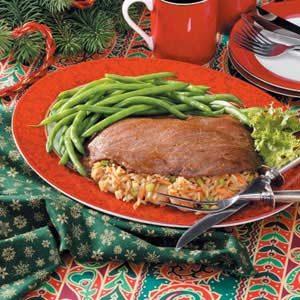 Marinated Stuffed Flank Steak