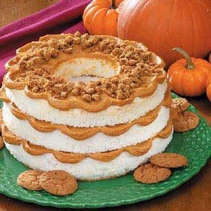 Pumpkin Layered Angel Cake