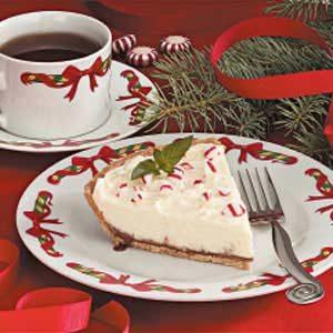 White Chocolate Mint Pie