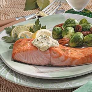 Salmon with Dijon Mayonnaise