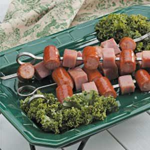Ham 'n' Sausage Kabobs