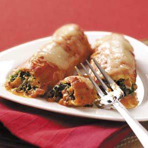 Chicken Spinach Manicotti