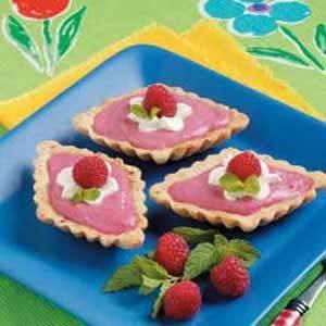 Raspberry Curd Tartlets
