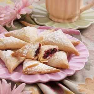 Cranberry Phyllo Triangles