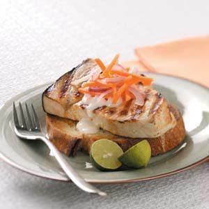 Open-Faced Swordfish Sandwiches