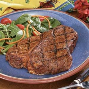 Peppered T-Bone Steaks