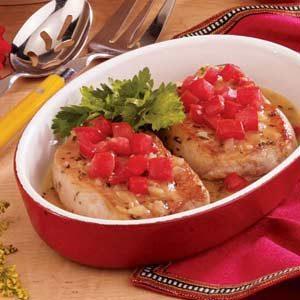 Pork Chops with Herbed Gravy