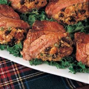 Pork with Cornbread Stuffing