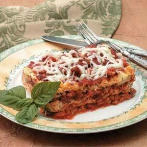 Mini Sausage Lasagna