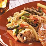 Asparagus and Mushroom Rice Medley