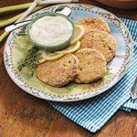 Salmon Cakes with Lemon-Herb Sauce