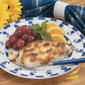 Cheese-Topped Swordfish