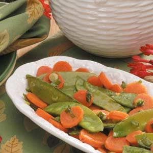 Glazed Carrots and Snow Peas