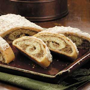Nut Roll Coffee Cakes