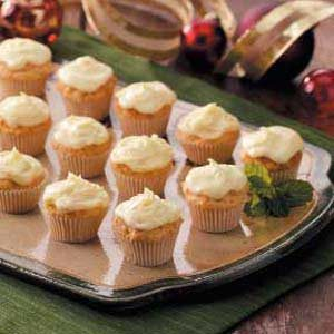 Frosted Carrot Mini Muffins