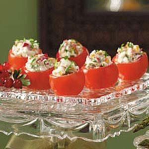 Radish-Stuffed Cherry Tomatoes