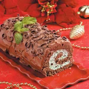 Chocolate Mint Cake Roll